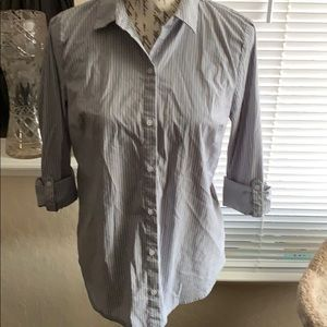 fitted dress shirt pinstripe